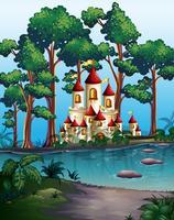Torri del castello nella foresta vettore