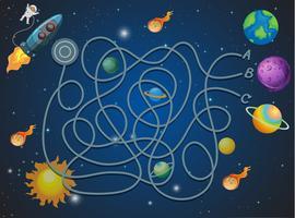 Concetto di labirinto a tema spaziale