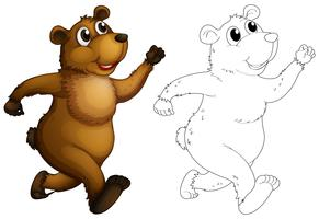 Doodle animale per l'orso grizzly