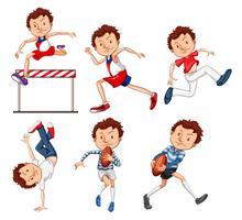 Set di atleta maschio