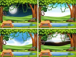 Set di paesaggio del parco vettore