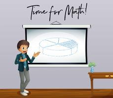 Tempo di frase per la matematica con l'insegnante di matematica in aula vettore