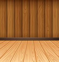 Parete in legno e piastrelle in legno vettore