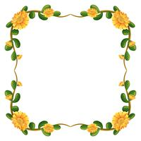 Un bordo floreale con fiori gialli