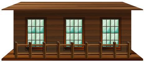 Casa fatta di legno vettore