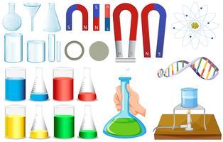 Diverse misure di bicchieri e magneti vettore