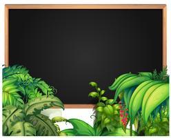 Modello di confine con piante tropicali vettore