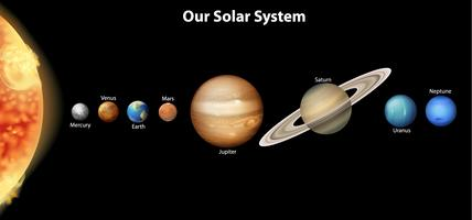 Il sistema solare vettore