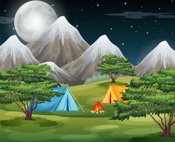 Campeggiare nella natura vettore