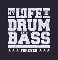 Tipografia Drum & Bass