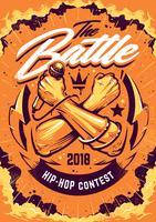 Design di poster di battaglia Hip-hop