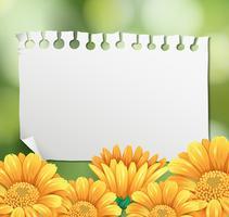 Modello di confine con fiori gialli in giardino