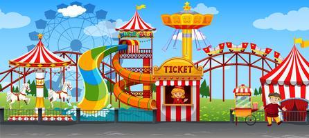 Un divertente modello di circo vettore