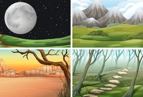 Set di scena diversa