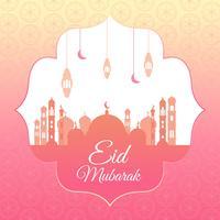 eid mubarak vettoriale