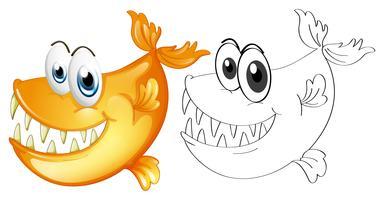 Profilo animale per pesce vettore