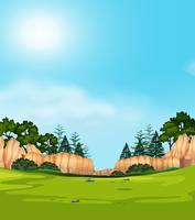 Un paesaggio vista natura vettore