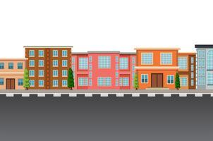 Modello urbano piatto isolato
