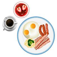 Colazione con uova e tè
