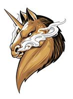 Fierce Unicorn Vector Art mascotte
