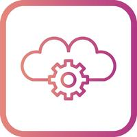 Icona di impostazioni di vettore nuvola