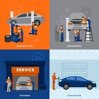 Set piatto meccanico vettore