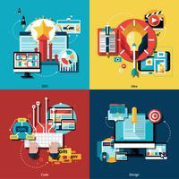 Set di icone del progetto creativo