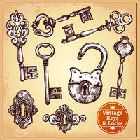 Lucchetti e chiavi vettore
