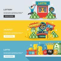 Set di banner della lotteria vettore