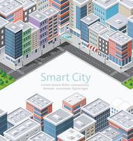 Smart city in isometrica vettore