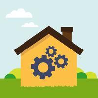 Casa con lo strumento vettore