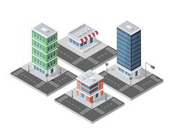 Area isometrica urbana vettore