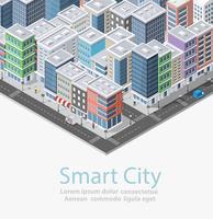Smart City isometrica vettore