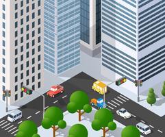 Quartiere della città di Megapolis vettore