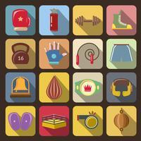 Icone di combattimento di casella vettore