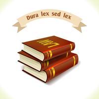 Libri legali di icone di diritto