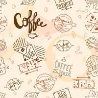 Caffè retrò vintage senza soluzione di continuità vettore