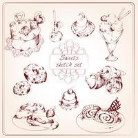 Set di schizzo di dolci
