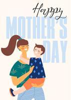 Buona festa della mamma. Donne e bambini vettore