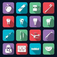 Icone dentali piatte vettore