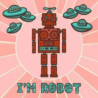 Design robot Hipster