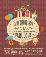Manifesto pubblicitario d'annata del circo