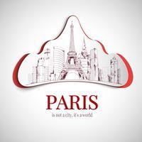 Emblema della città di Parigi vettore