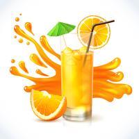 Ghiaccio succo d'arancia