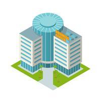 Centro business edificio isometrico