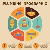 Icona di impianto idraulico infografica vettore