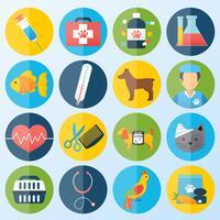 Set di icone veterinarie vettore