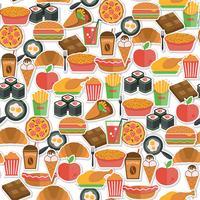 Icona di fast food senza soluzione di continuità