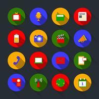 Set di icone di media vettore