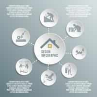 Roofer infografica di carta